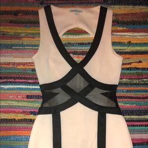 Dresses & Skirts - Pink and black mesh dress